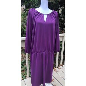 Talbots Woman Gathered Waist Stretchy Dress